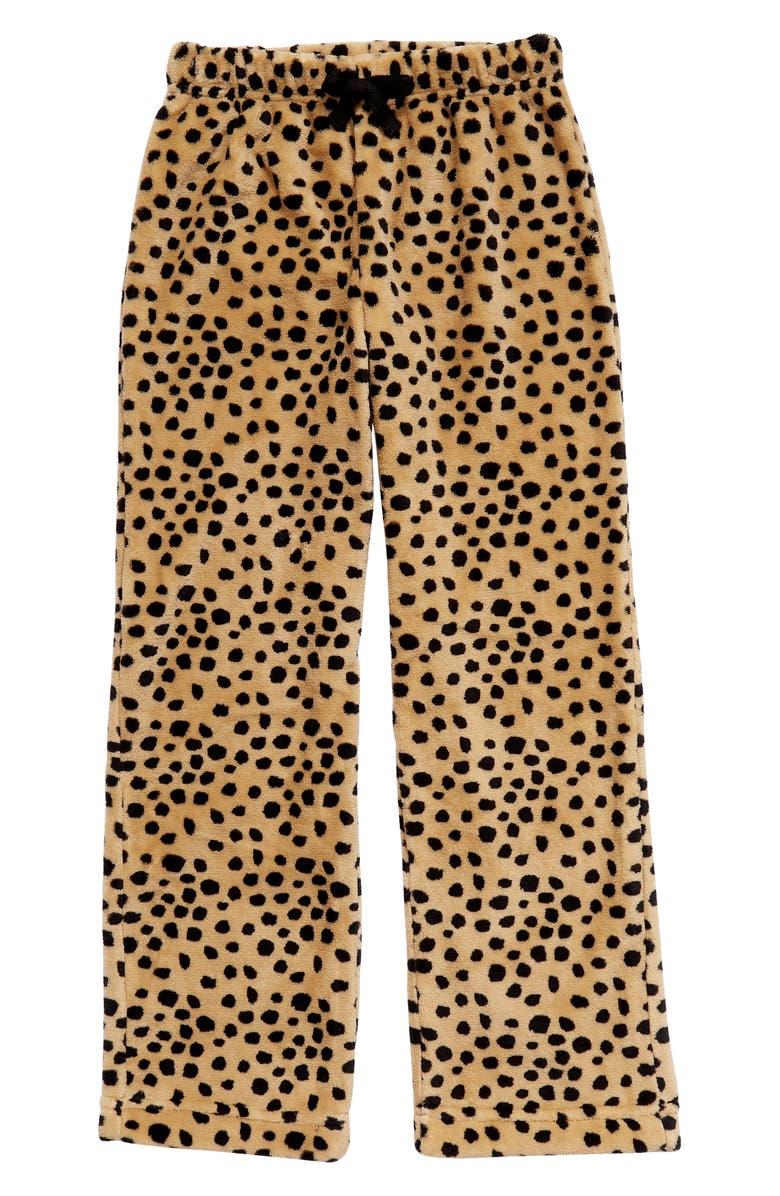 TUCKER + TATE Kids' Print Fleece Pants, Main, color, TAN STOCK ANIMAL DOT