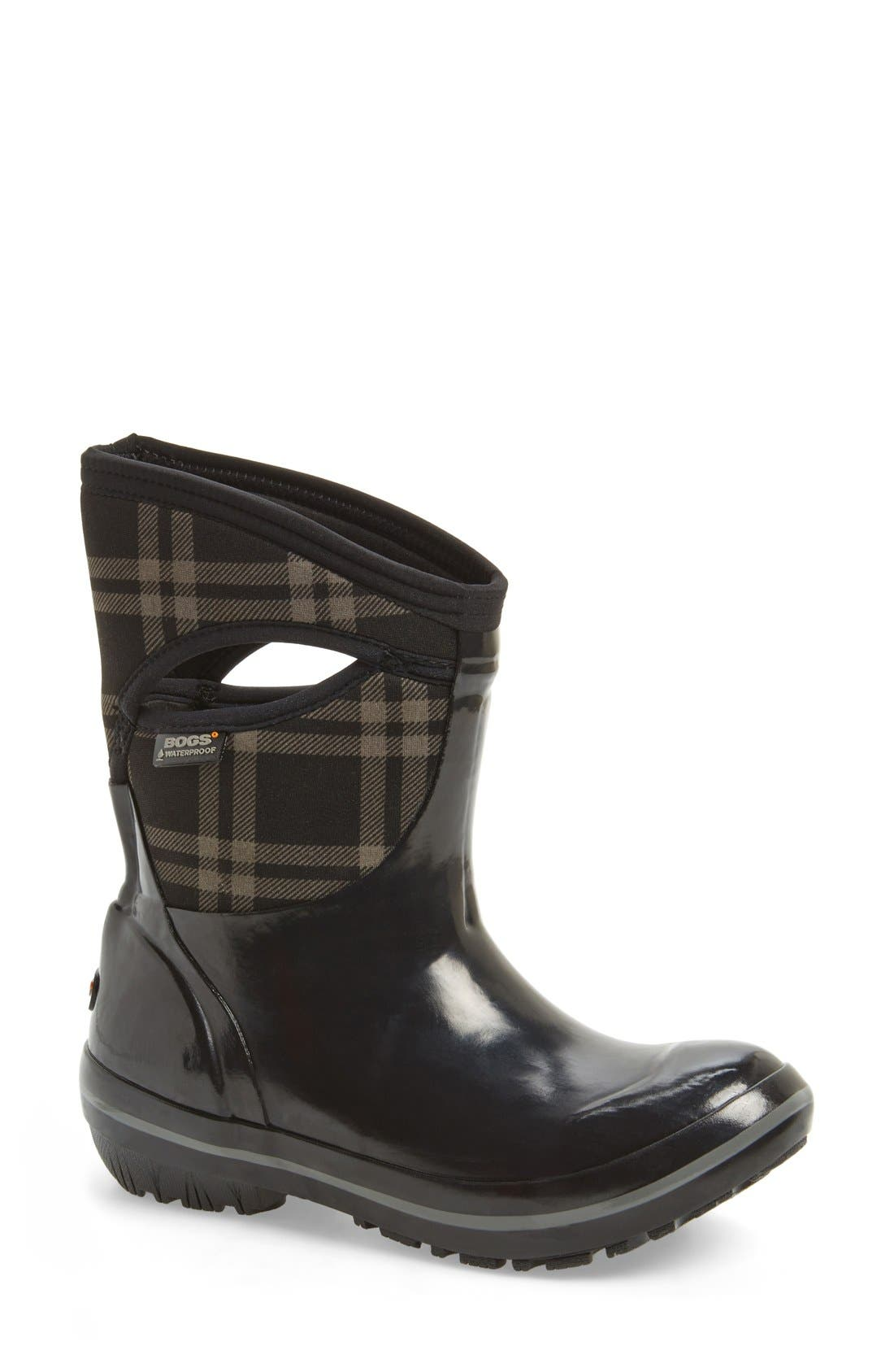 'Plimsoll Plaid' Mid Waterproof Snow Boot