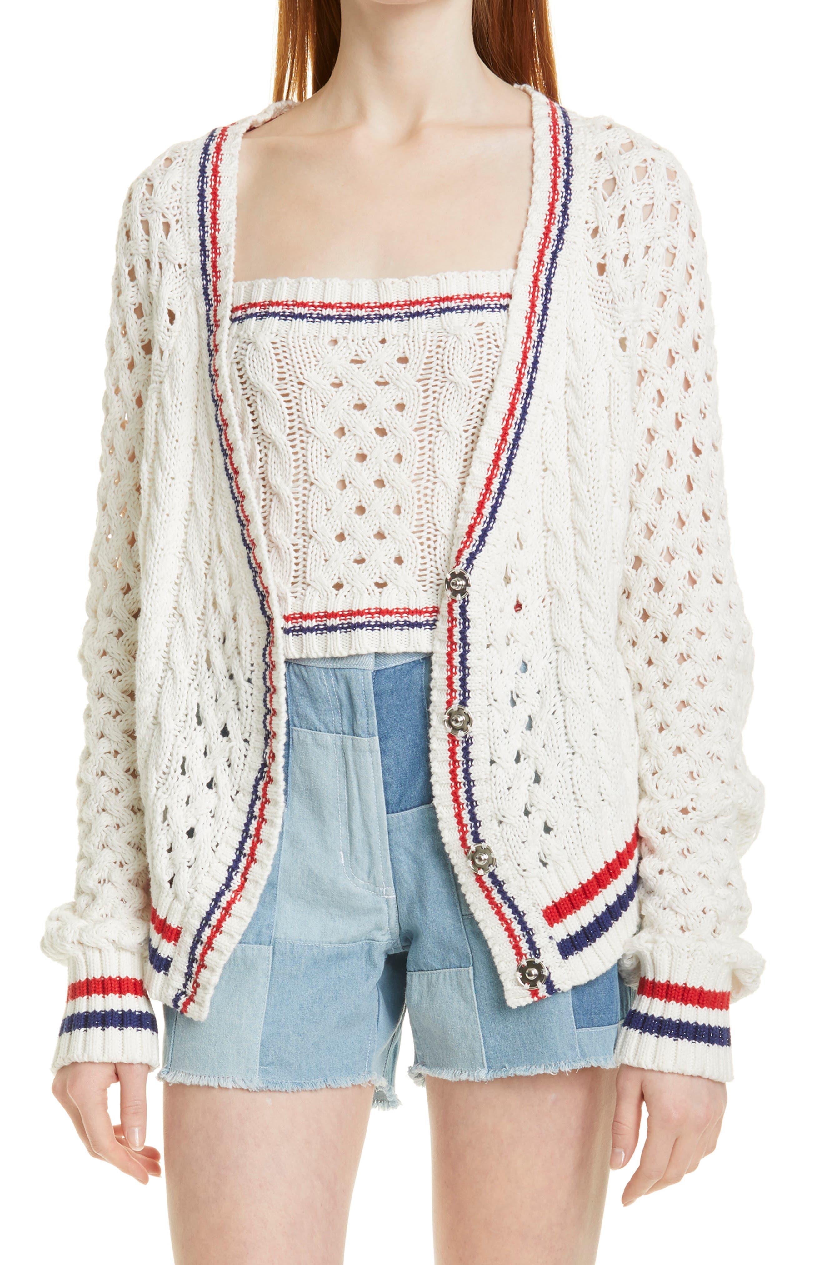 Deuce Cotton & Cashmere Cable Cardigan