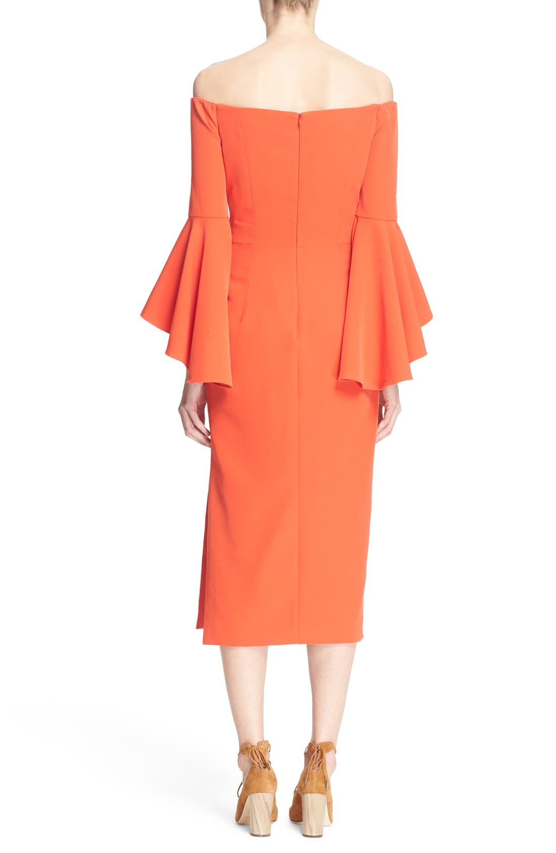 ,                             Selena Off the Shoulder Midi Dress,                             Alternate thumbnail 57, color,                             803