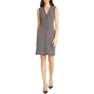 Tailored By Rebecca Taylor Sleeveless Cotton Blend Sheath Dress, Black