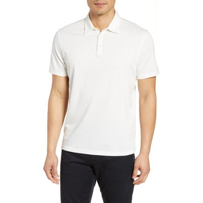 Zachary Prell Caldwell Pique Regular Fit Polo, White