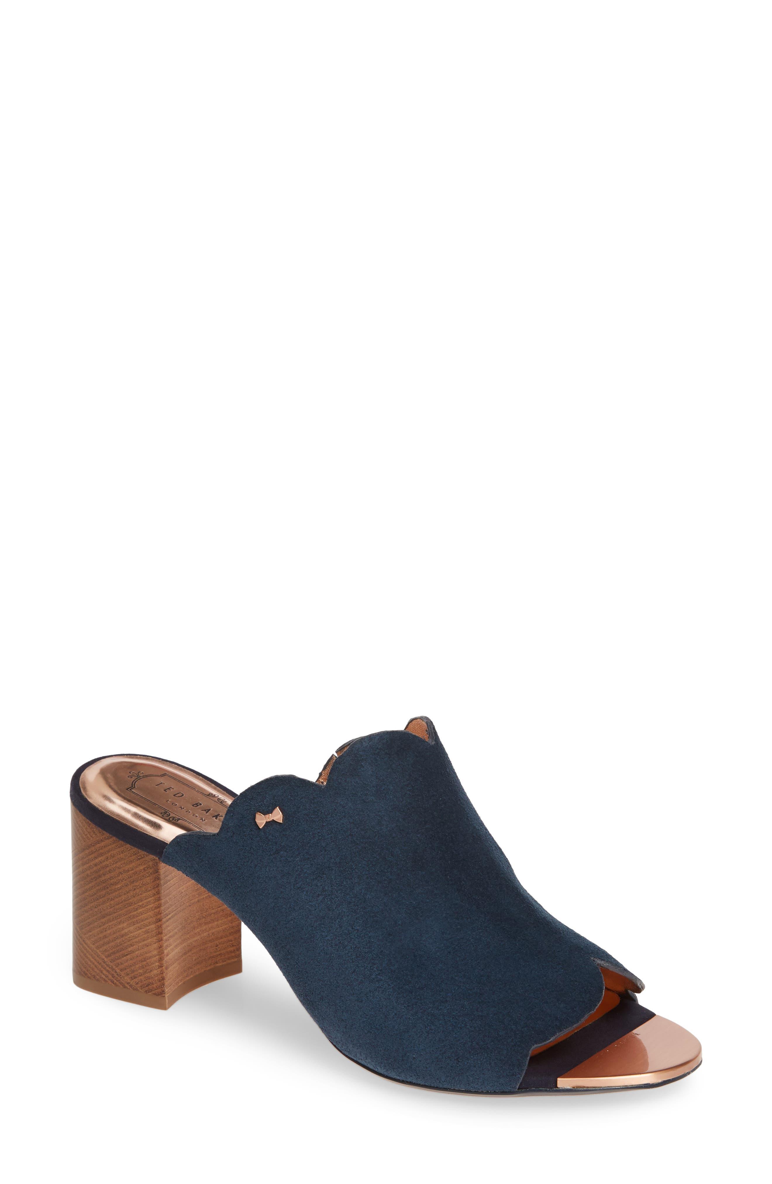 Ted Baker London Zinia Scalloped Slide Sandal - Blue