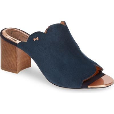 Ted Baker London Zinia Scalloped Slide Sandal, Blue