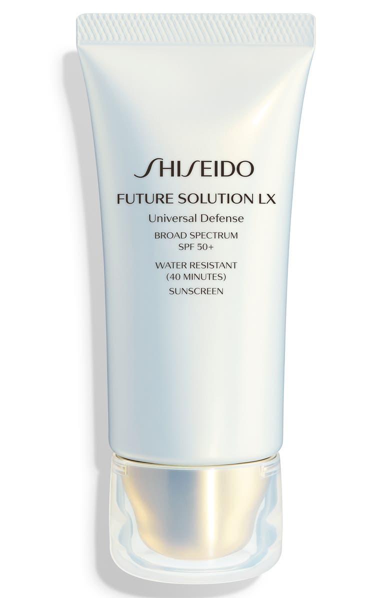 SHISEIDO Future Solution LX Universal Defense Broad Spectrum SPF 50+ Day Cream Sunscreen, Main, color, NO COLOR