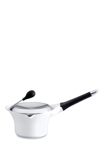 Image of BergHOFF 1.5 qt. White Cast Covered Sauce Pan