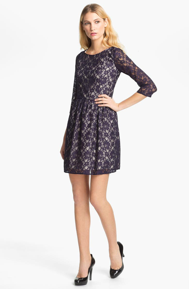 FRENCH CONNECTION 'Lizzie' Lace Dress, Main, color, 503