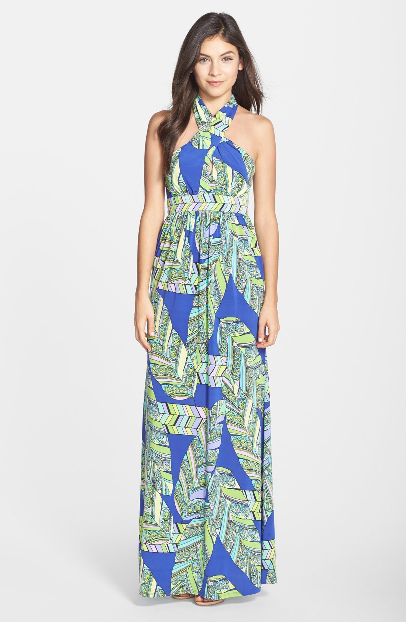 1ec9c0aba214e3 Trina Turk 'Tilly' Print Jersey Halter Maxi Dress   Nordstrom