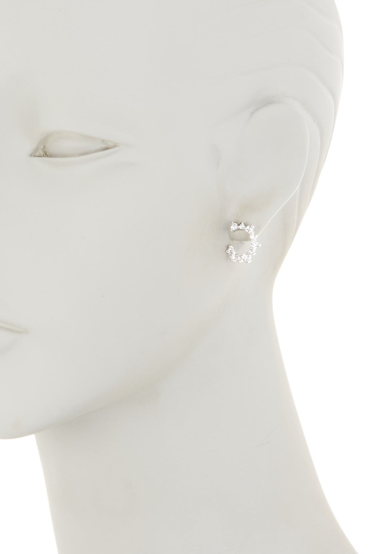 Image of Nordstrom Rack Pave CZ Curved Stud Earrings