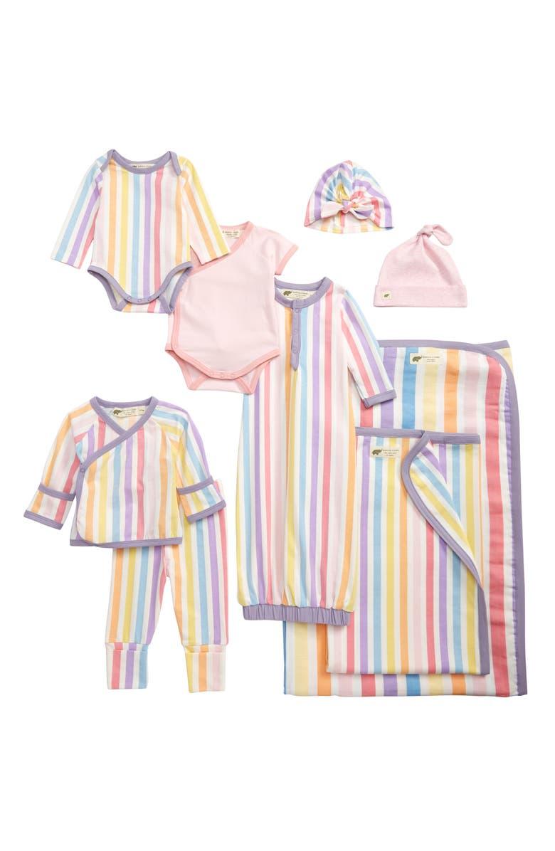 MONICA + ANDY Rainbow Stripes 9-Piece Bundle Gift Set, Main, color, RAINBOW STRIPES
