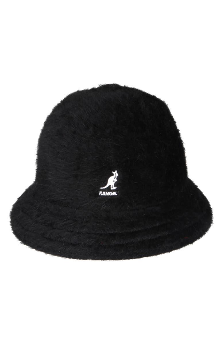 KANGOL Furgora Casual Bucket Hat, Main, color, BLACK
