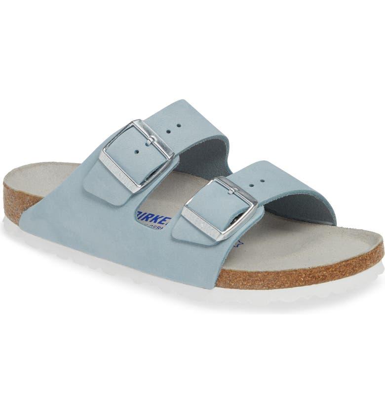 BIRKENSTOCK Arizona Soft Footbed Sandal, Main, color, SKY NUBUCK