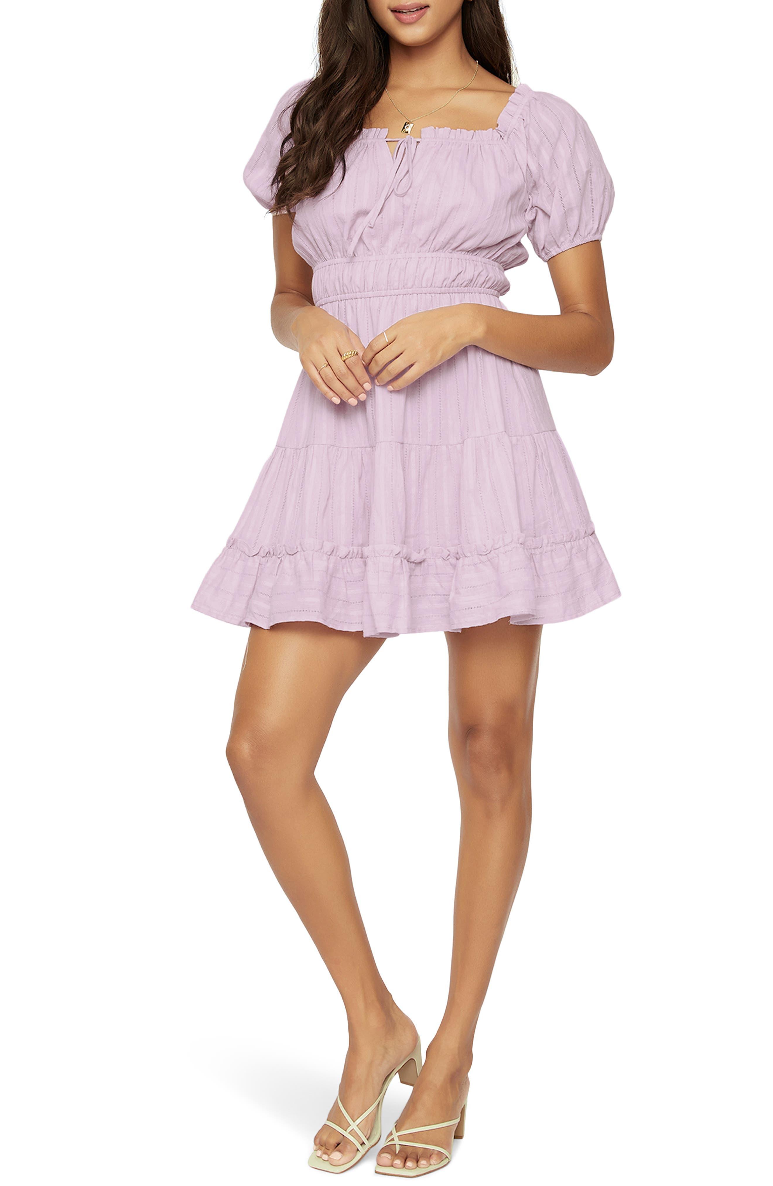 Women's Lost + Wander Lilac Cotton Leno Minidress