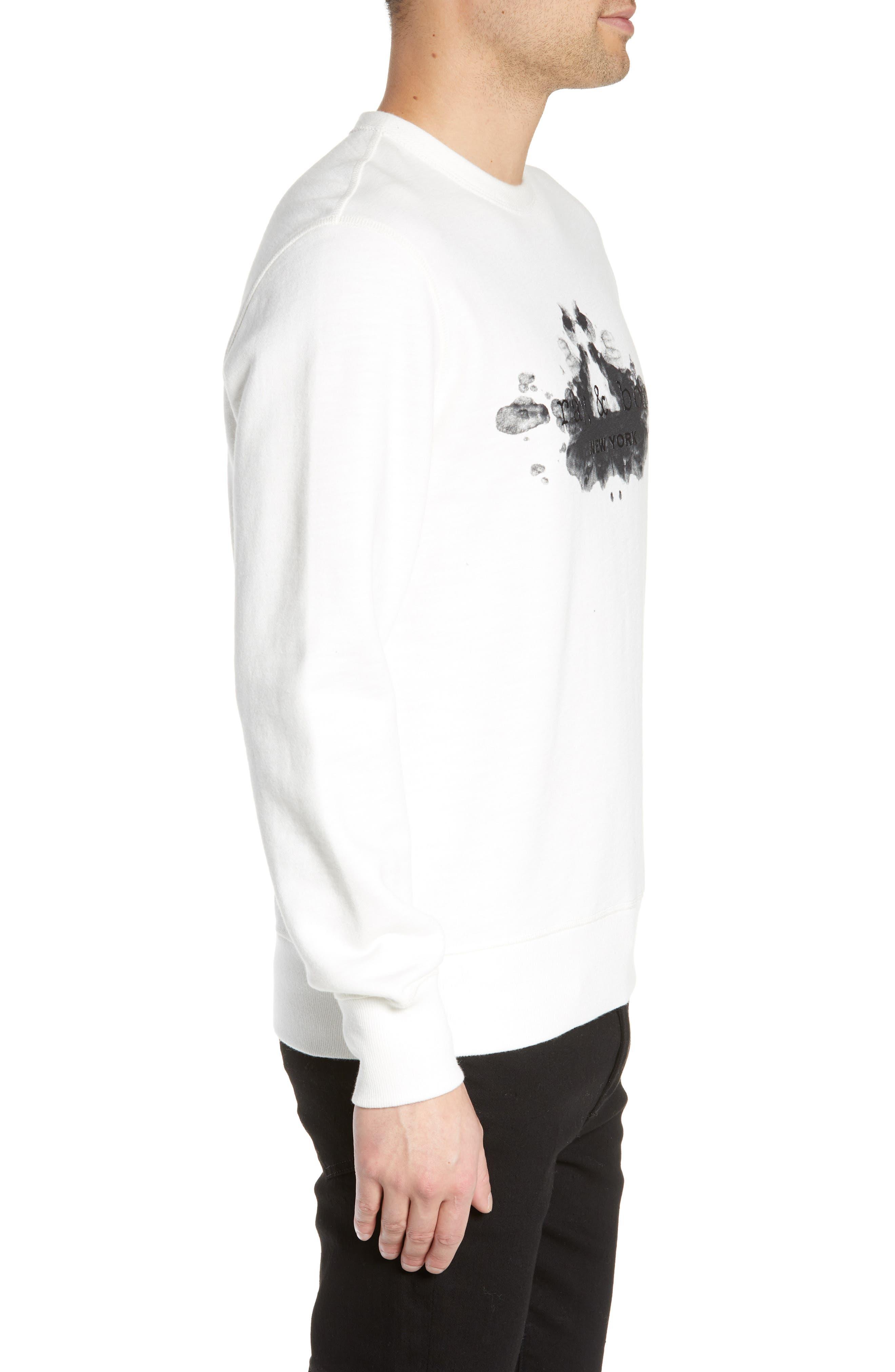 ,                             Rorschach Slim Fit Sweatshirt,                             Alternate thumbnail 3, color,                             IVORY