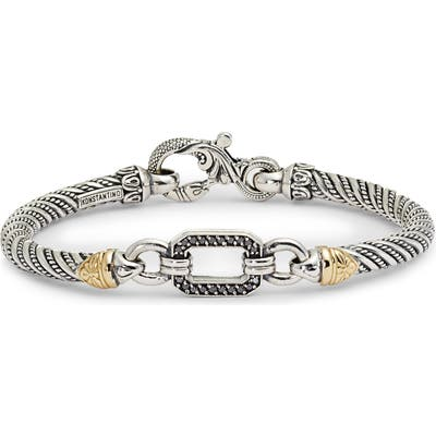 Konstantino Hermione Silver & Gold Bracelet With Black Diamonds