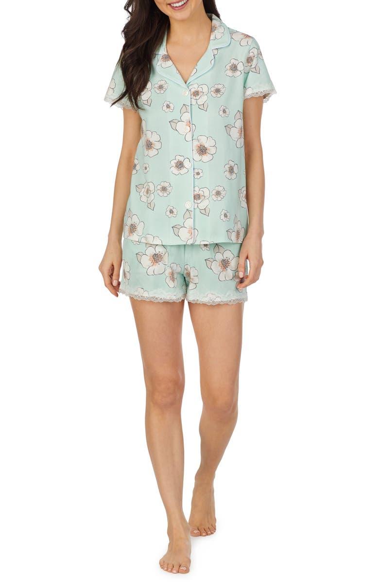 BEDHEAD PAJAMAS Shorty Lace Trim Pajamas, Main, color, 404