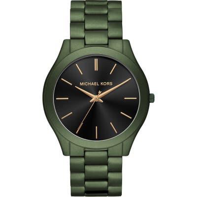Michael Michael Kors Slim Runway Bracelet Watch, 45Mm