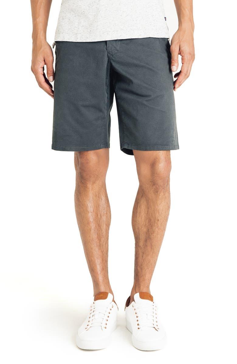 GOOD MAN BRAND Wrap Diamond Dash Slim Fit Shorts, Main, color, MAGNET