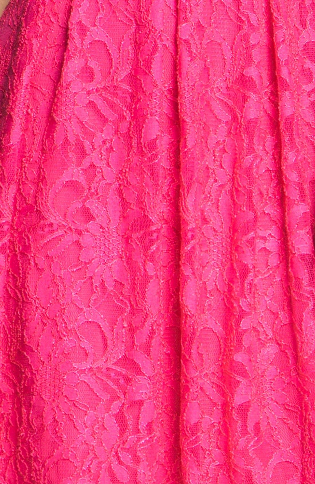 ,                             Lace Fit & Flare Dress,                             Alternate thumbnail 6, color,                             670
