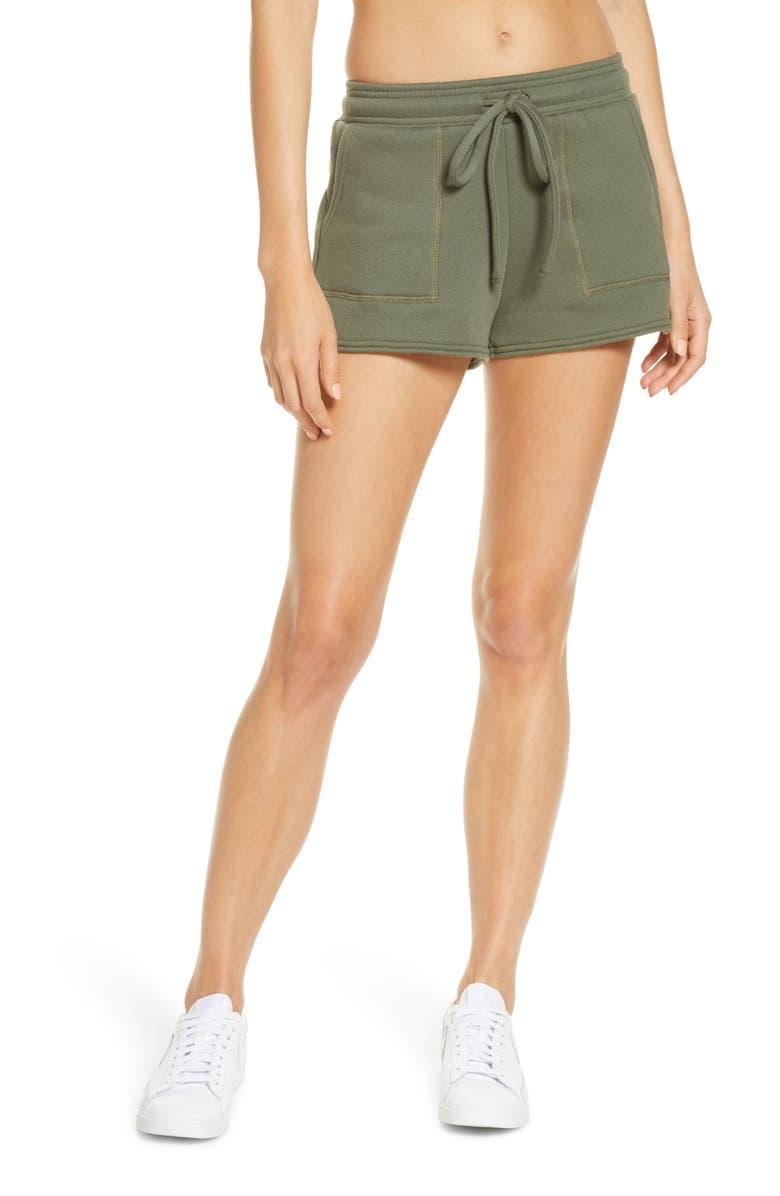 BELLA+CANVAS Sweat Shorts, Main, color, MILITARY GREEN