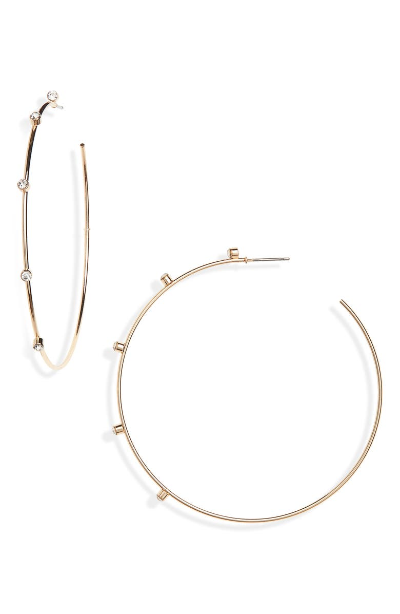 Panacea Crystal Hoop Earrings