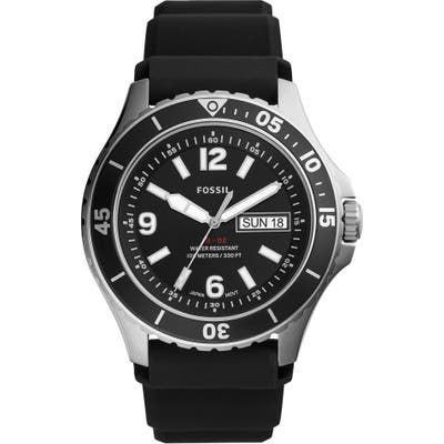 Fossil Fb-02 Silicone Strap Watch, 4m