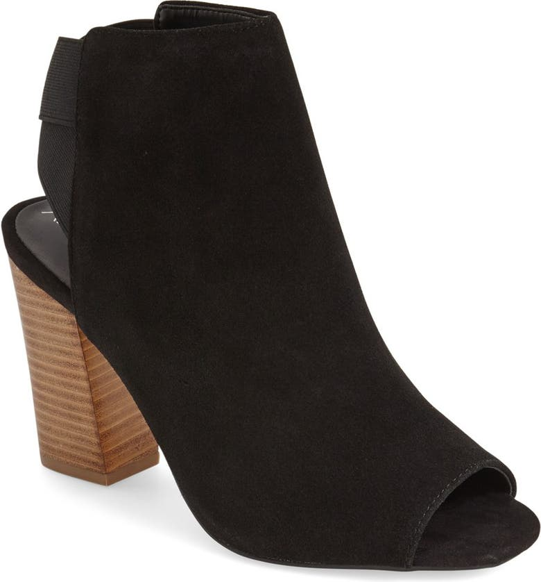 SOLE SOCIETY 'Dakota' Peep Toe Bootie, Main, color, BLACK SUEDE