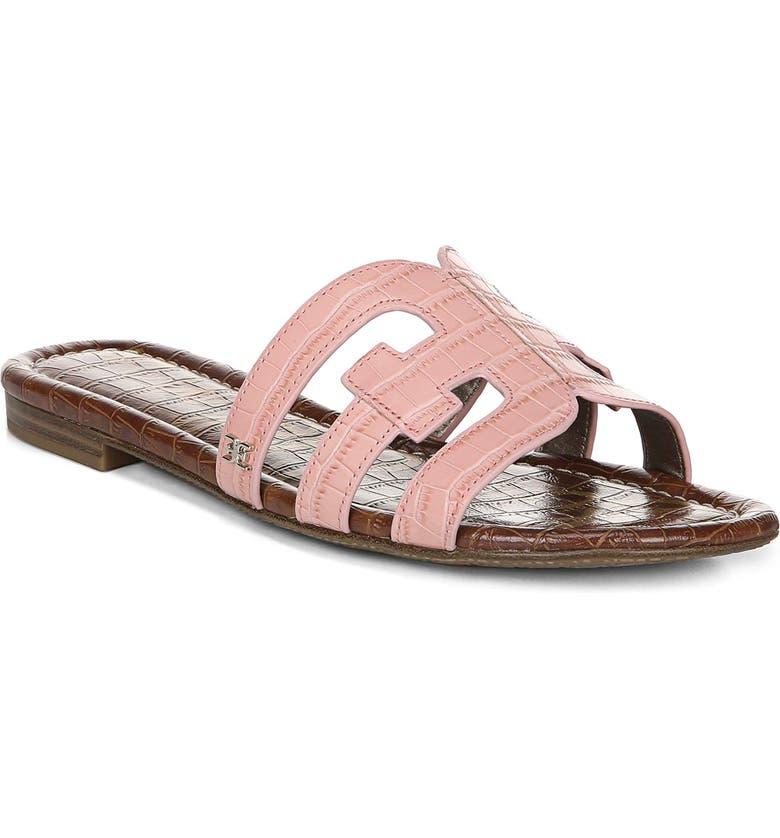 SAM EDELMAN Bay Cutout Slide Sandal, Main, color, PINK CROC LEATHER