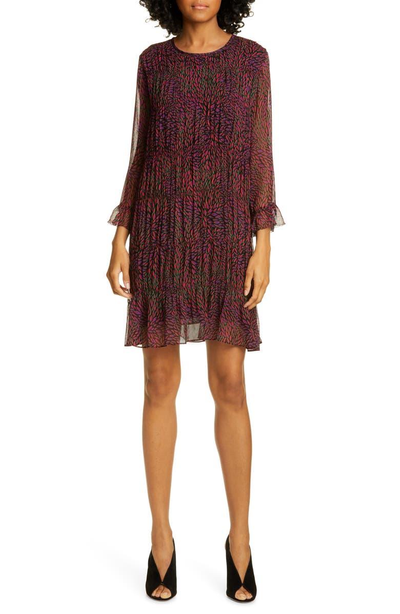 Grace Ruffle Detail Chiffon Shift Dress by Ba&Sh