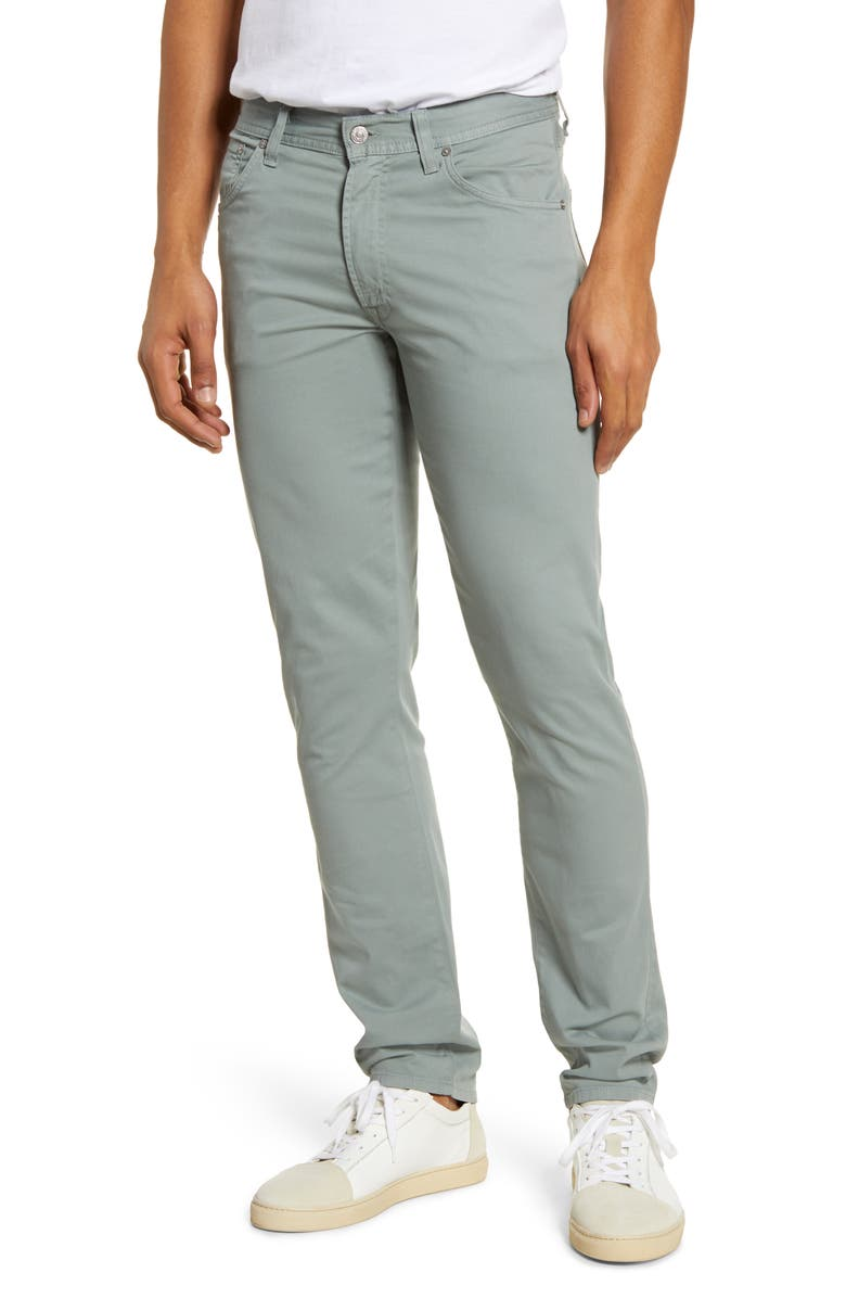 CITIZENS OF HUMANITY Luxury Bowery Slim Fit Twill Pants, Main, color, SEA FOAM (TEAL)