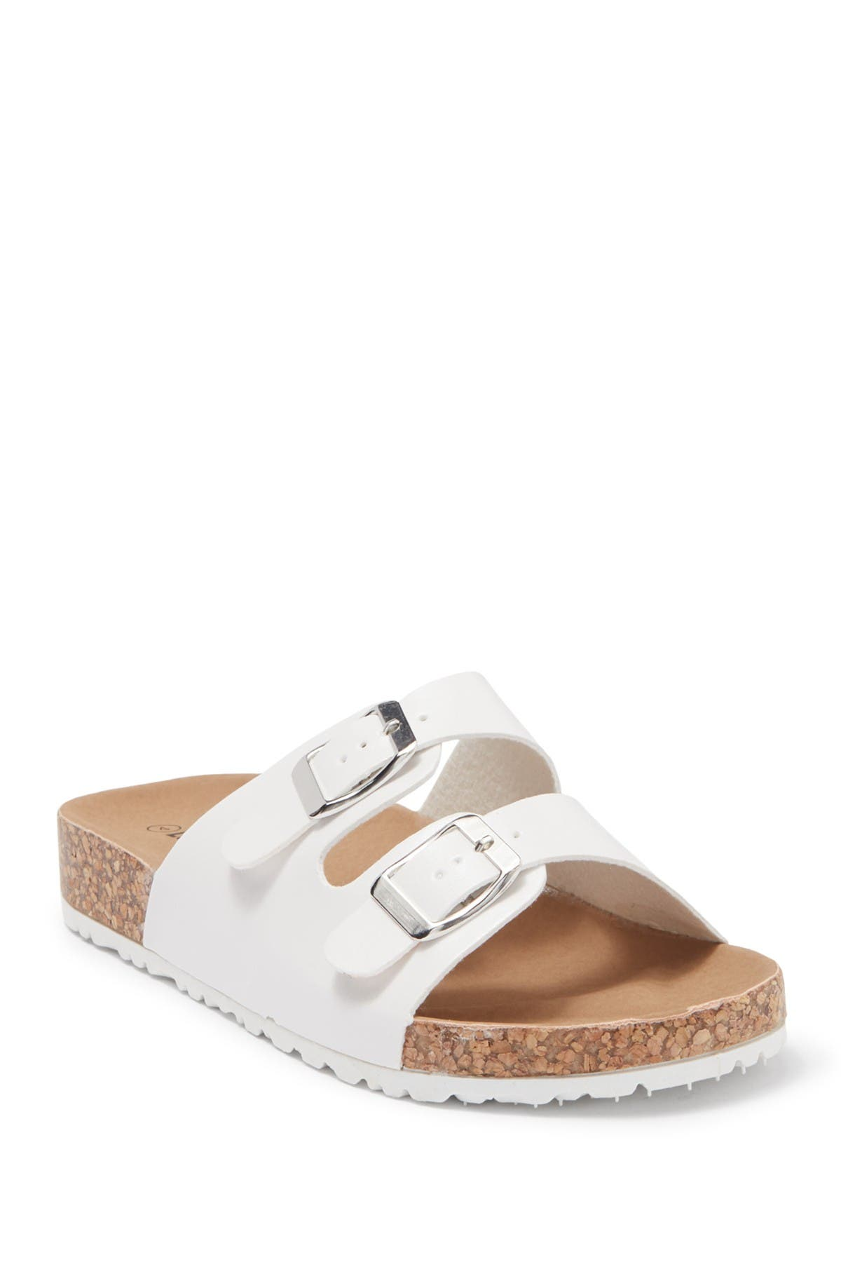 Image of Top Moda Double Strap Slide Sandal