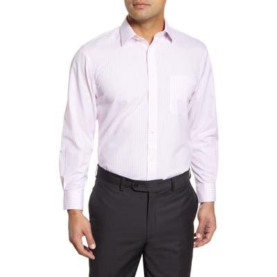 Nordstrom Shop Smartcare(TM) Traditional Fit Check Dress Shirt, Pink