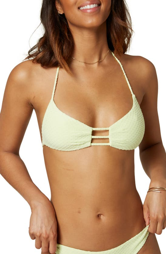 O'neill Coronado Saltwalter Textured Bikini Top In Mint
