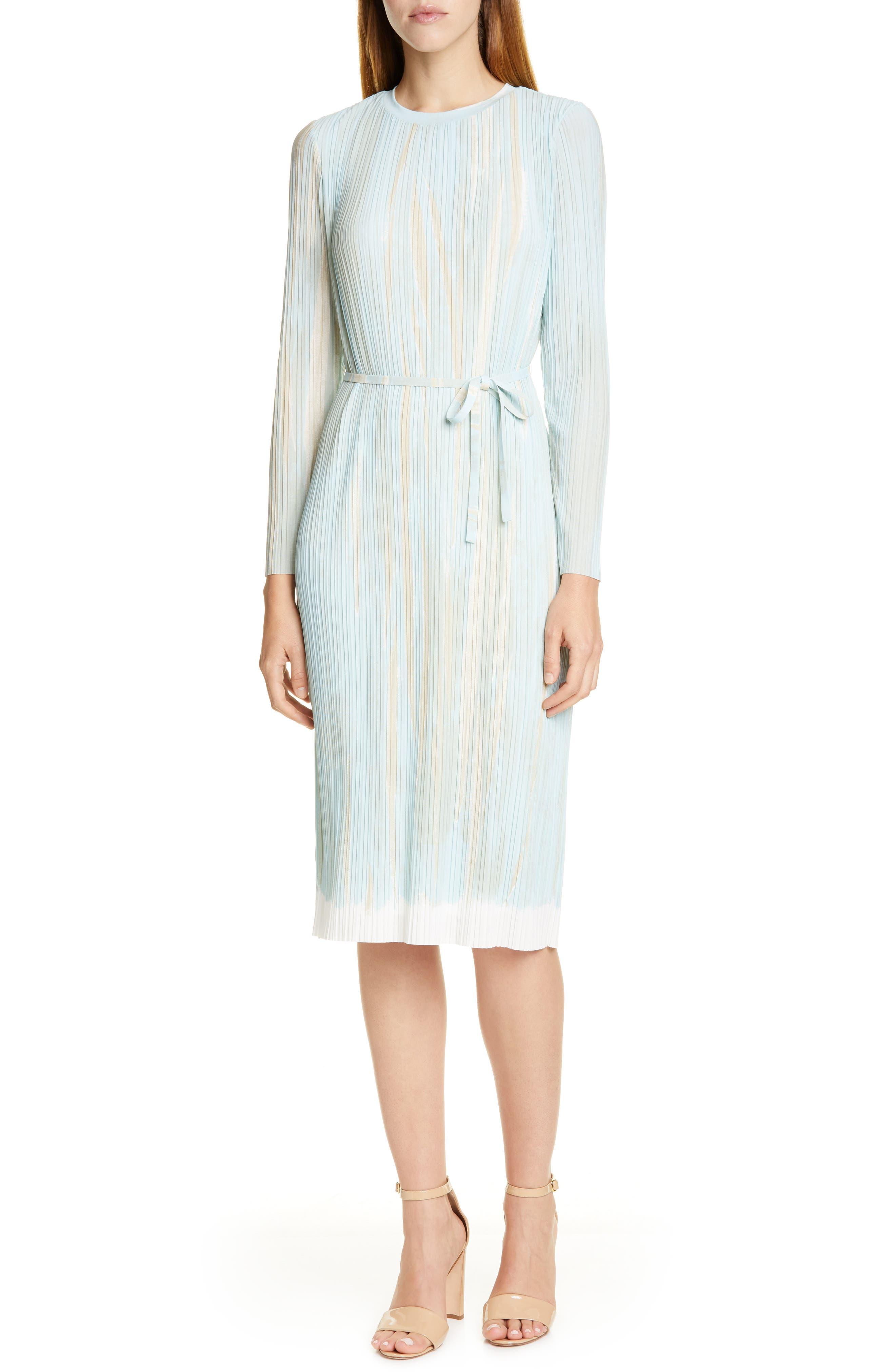 Boss Etanika Long Sleeve Dress, Blue