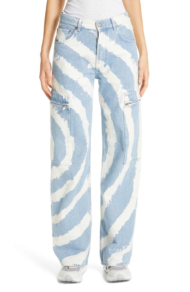 GANNI Relaxed Leg Jeans, Main, color, 400