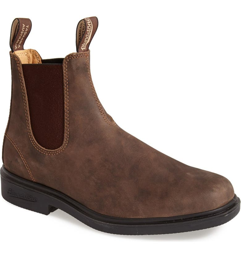BLUNDSTONE FOOTWEAR Chelsea Boot, Main, color, RUSTIC BROWN