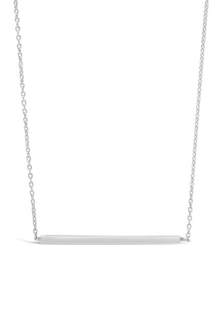 Image of Sterling Forever Sterling Silver Thin Bar Necklace