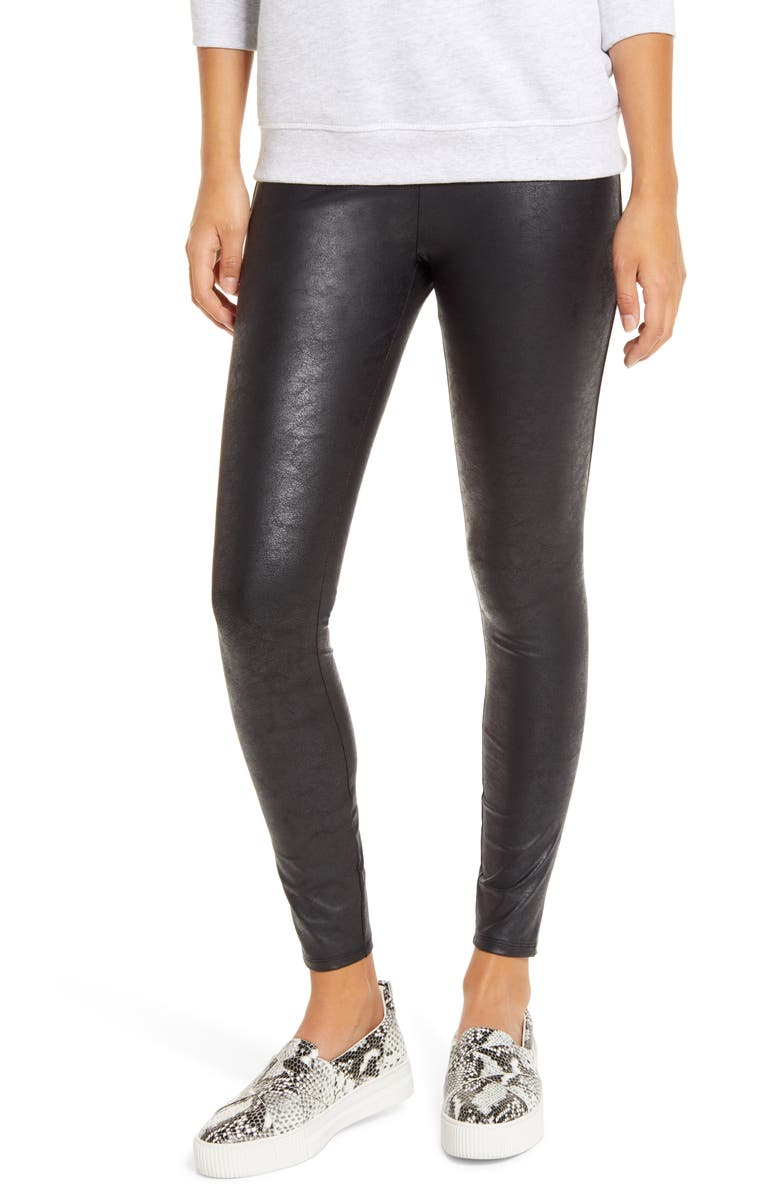 LYSSÉ Matilda Foil Leggings, Main, color, BLACK