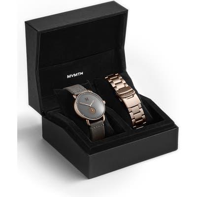 Mvmt Revolver Leather Strap Watch & Bracelet Strap Set, 41Mm