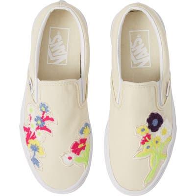 Vans Chenille Classic Slip-On Sneaker, Ivory