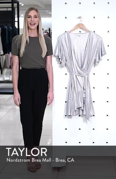 Metallic Ruffle Wrap Dress, sales video thumbnail