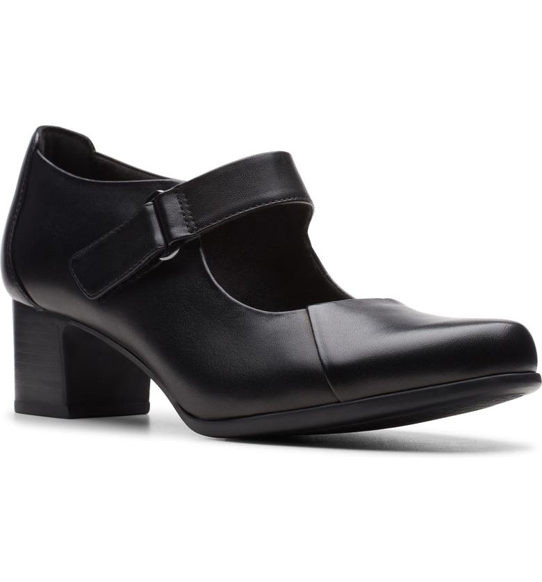 CLARKS<SUP>®</SUP> Un Damson Vibe Pump, Main, color, BLACK LEATHER