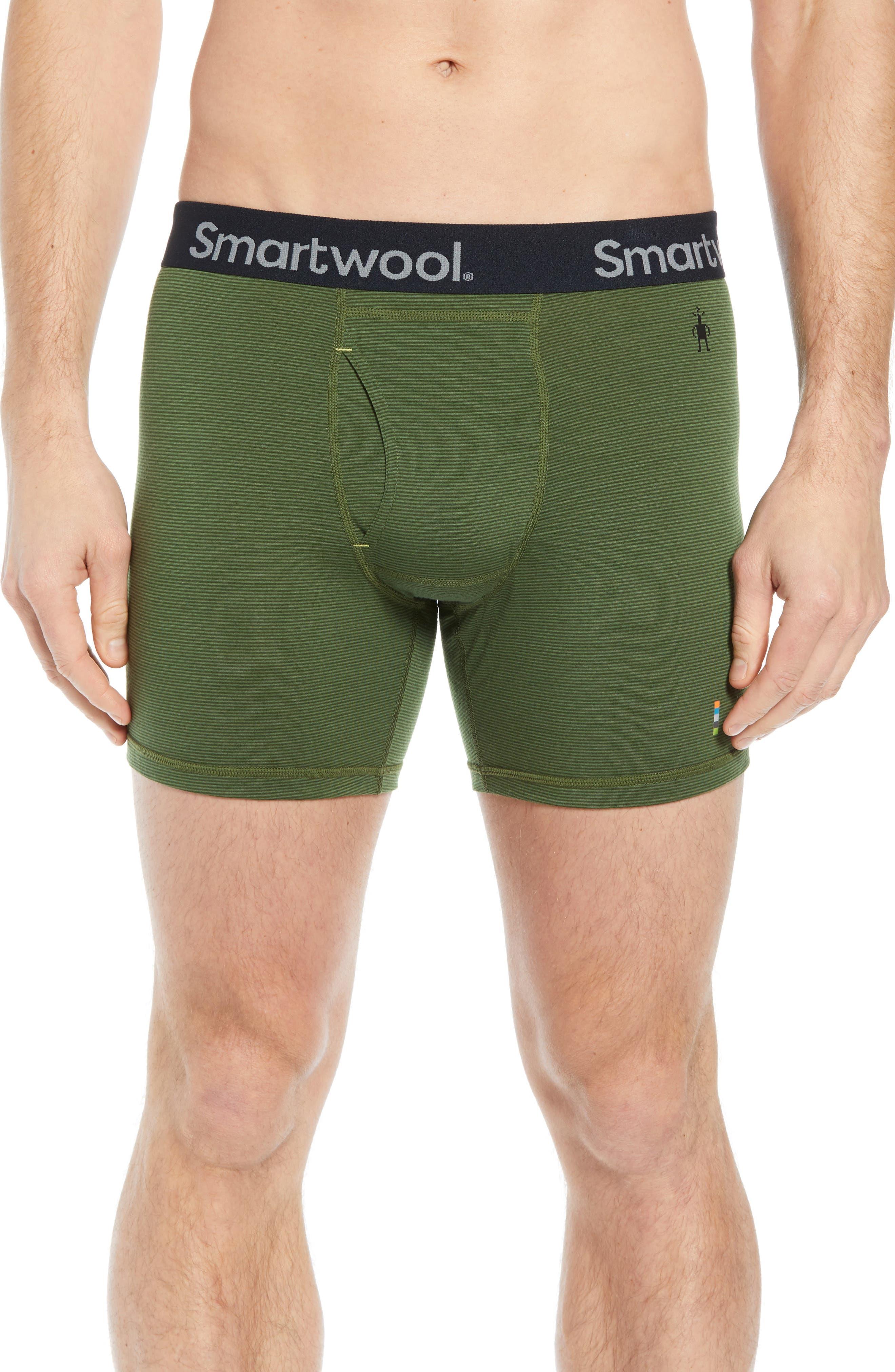 Smartwool 150 Merino Wool Blend Boxer Briefs, Green