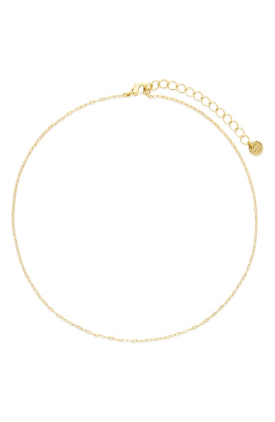 Brook & York Carly Chain Link Choker Necklace In Gold