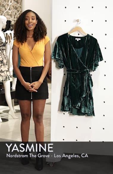 Night Fever Velvet Wrap Dress, sales video thumbnail