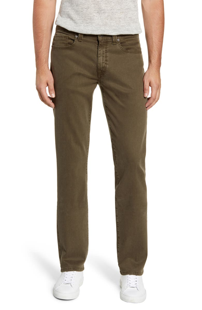 FIDELITY DENIM Jimmy Slim Straight Leg Jeans, Main, color, ARMY