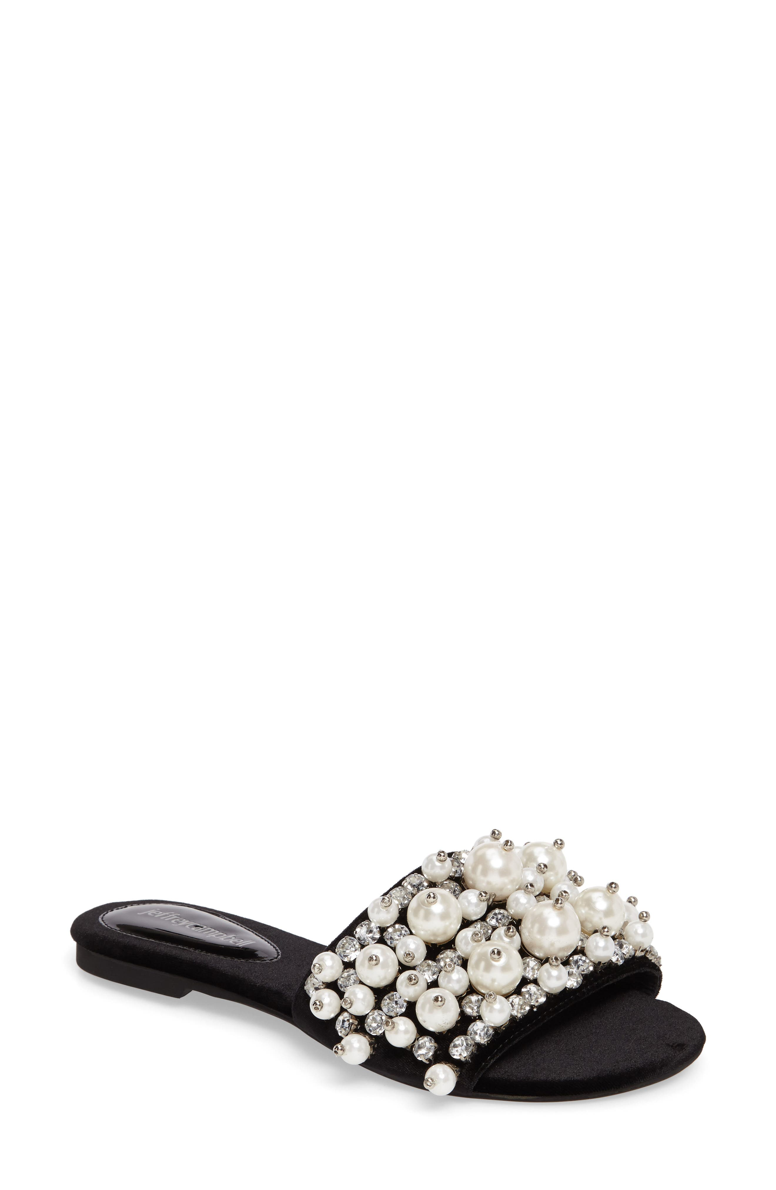 Facil Embellished Slide Sandal, Main, color, 010