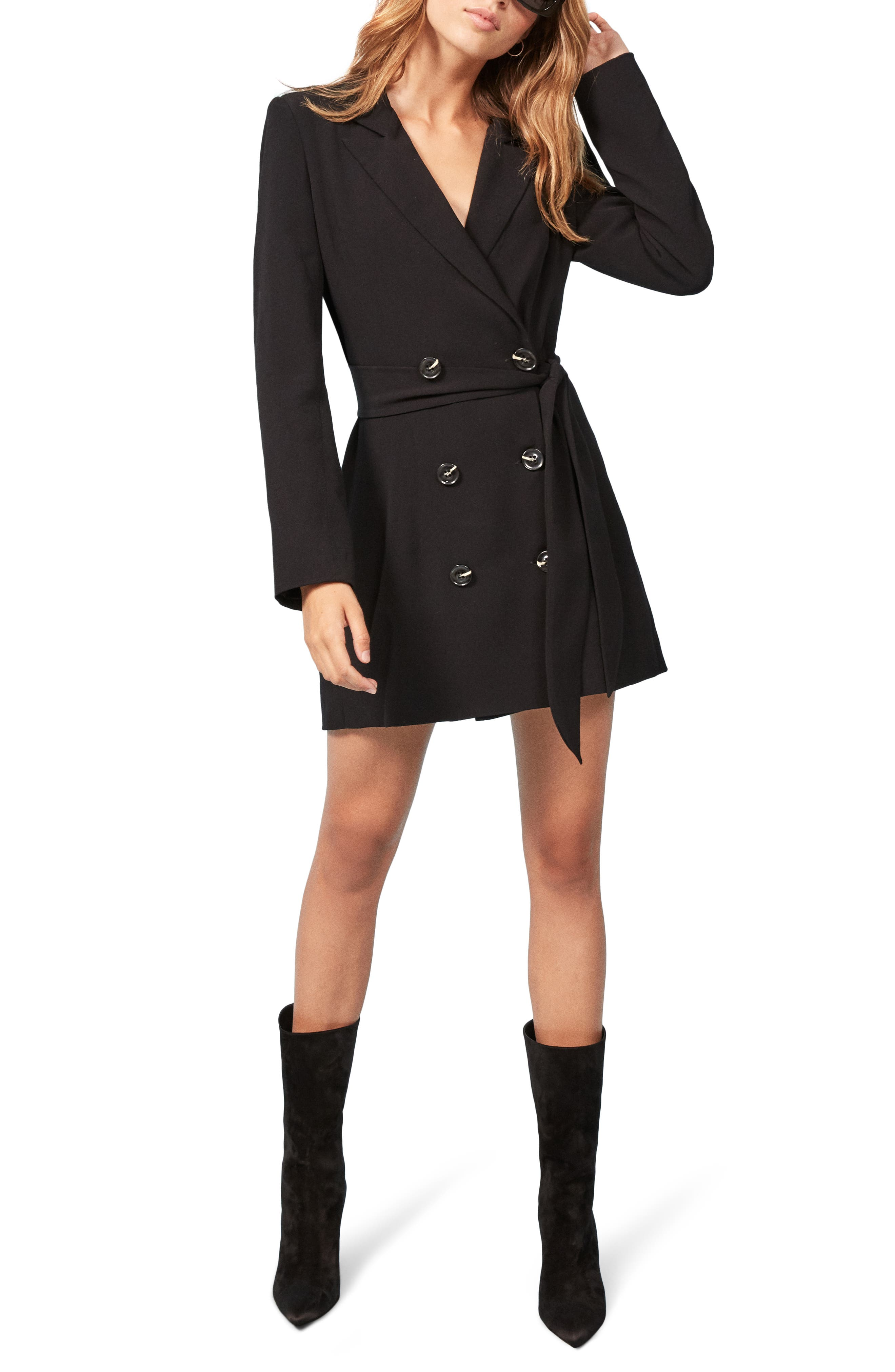 Reformation Cole Dress, Black