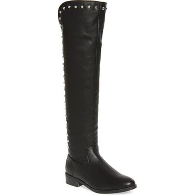 Very Volatile Akita Studded Over The Knee Boot, Black