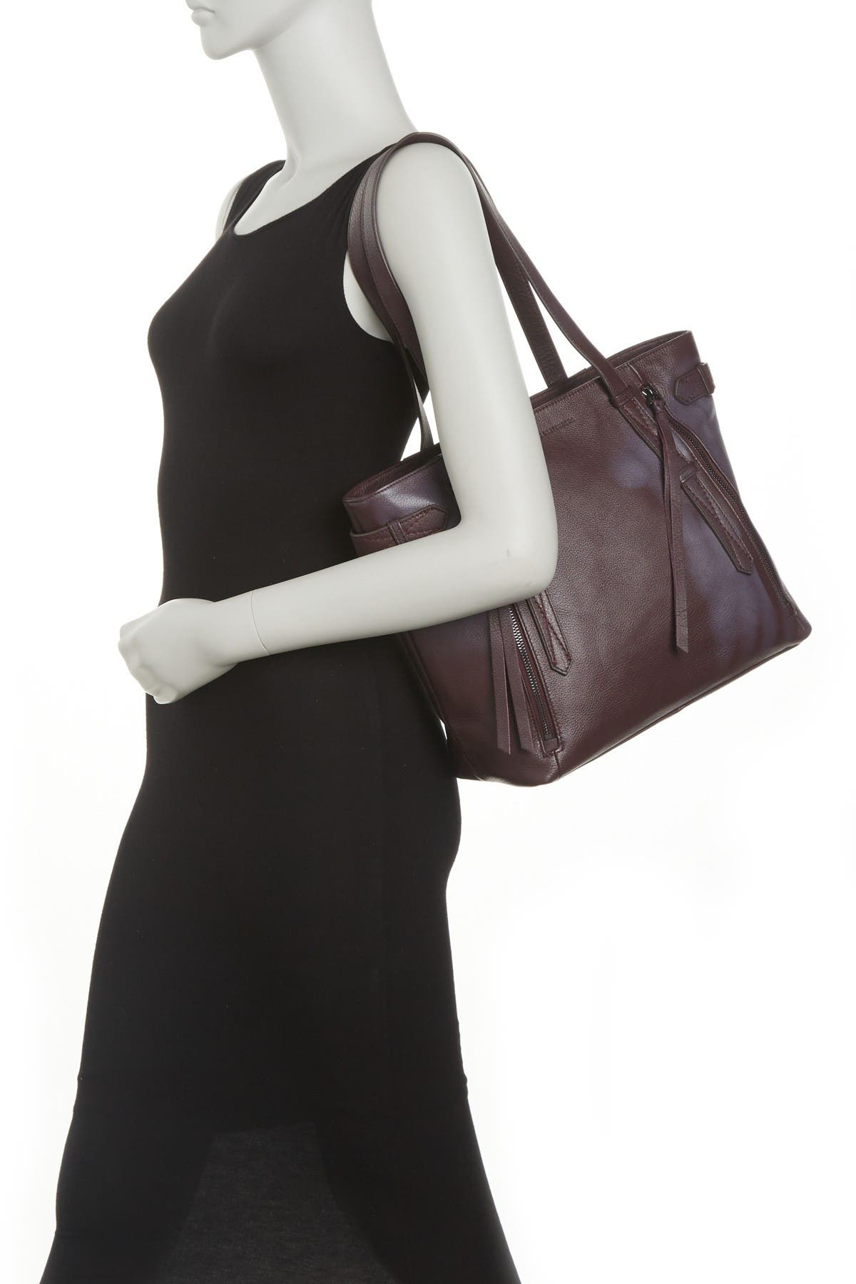 Image of Aimee Kestenberg City Slicker Leather Tote Bag